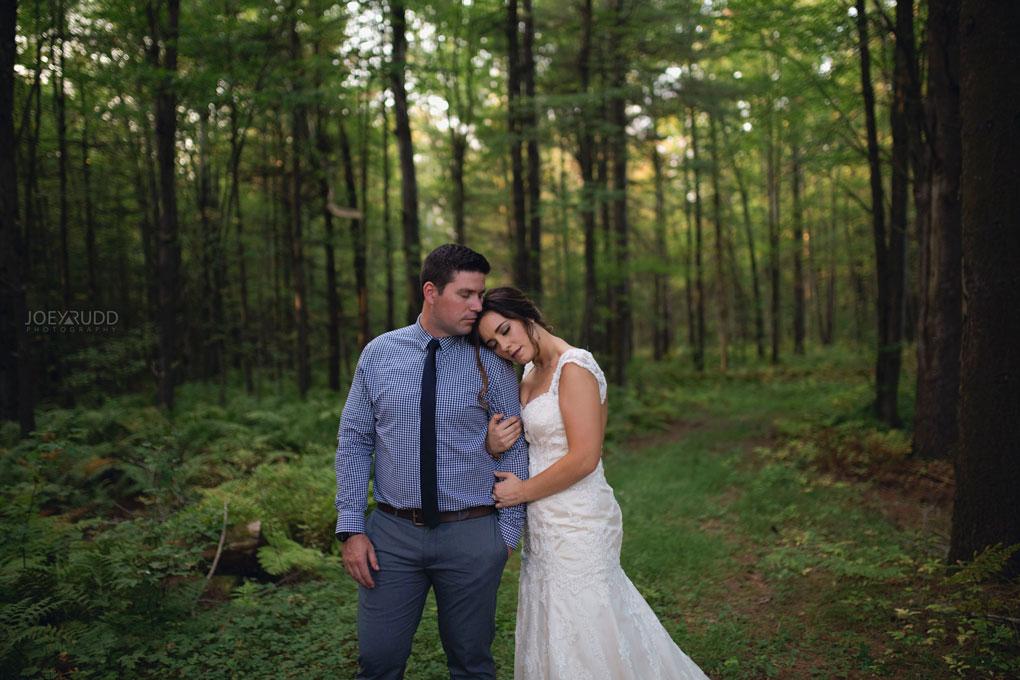 Bean Town Ranch Wedding by Ottawa Wedding Photographer Joey Rudd Photography Bridal Couple Trees