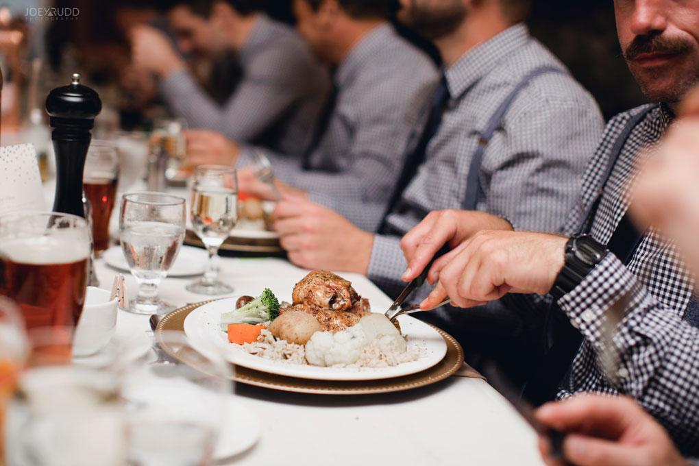 Bean Town Ranch Wedding by Ottawa Wedding Photographer Joey Rudd Photography Reception Wedding Venue Food Plate
