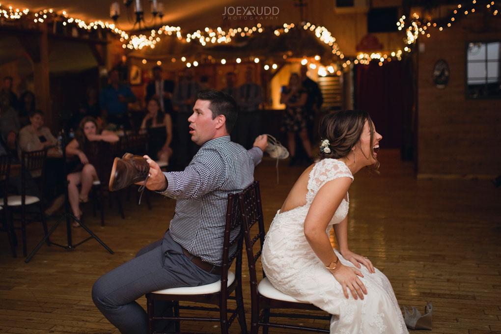 Bean Town Ranch Wedding by Ottawa Wedding Photographer Joey Rudd Photography Reception Wedding Venue Shoe Game