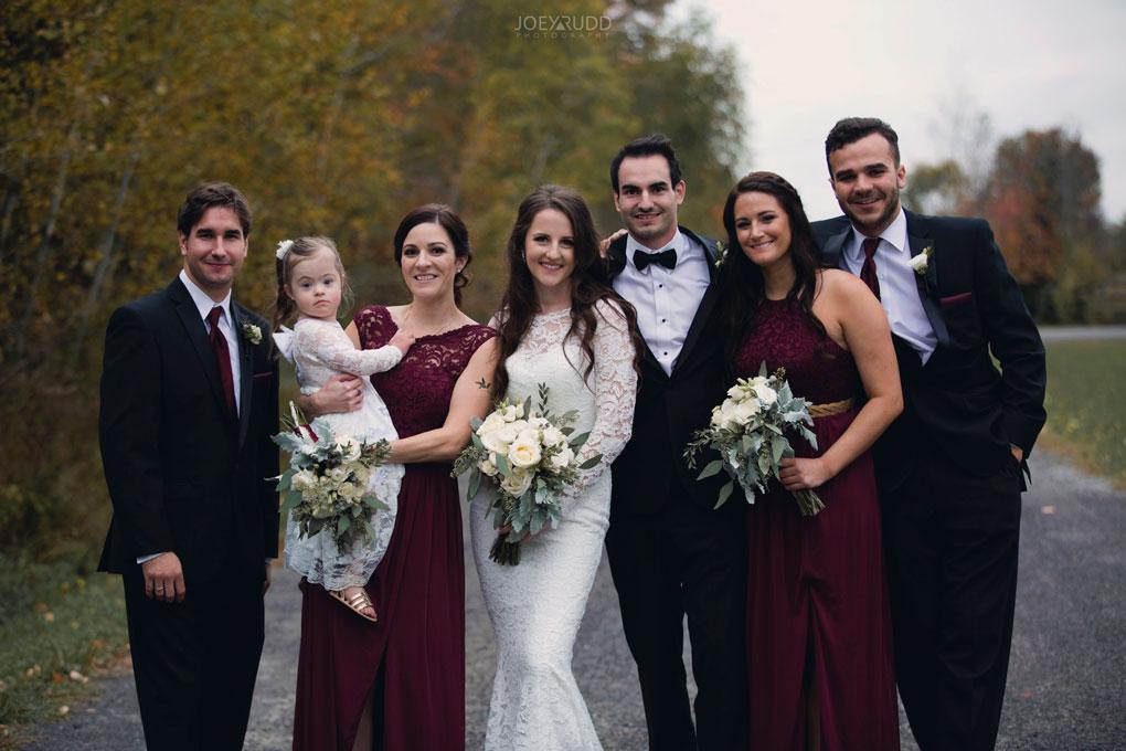 Orchard View Wedding by Ottawa Wedding Photographer Joey Rudd Photography path wedding party