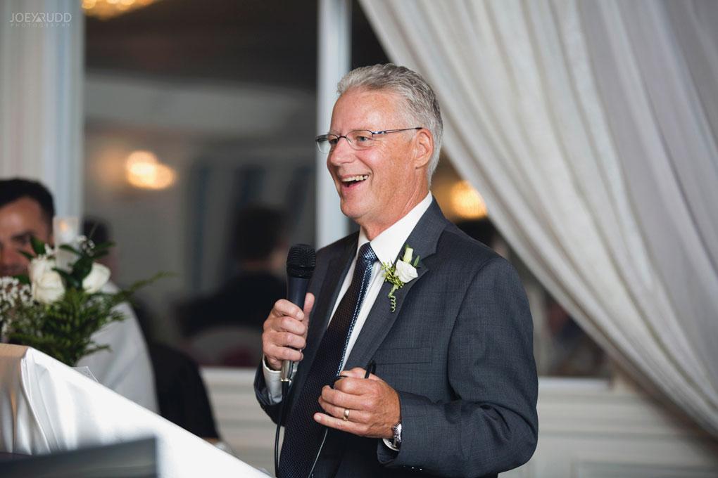 Orchard View Wedding by Ottawa Wedding Photographer Joey Rudd Photography candid Speeches