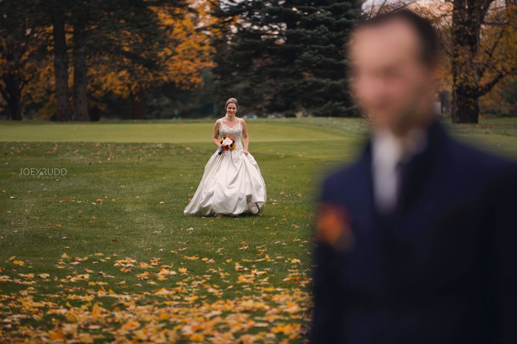 Fall Wedding at the Royal Ottawa Golf Course by Joey Rudd Photography  First Look