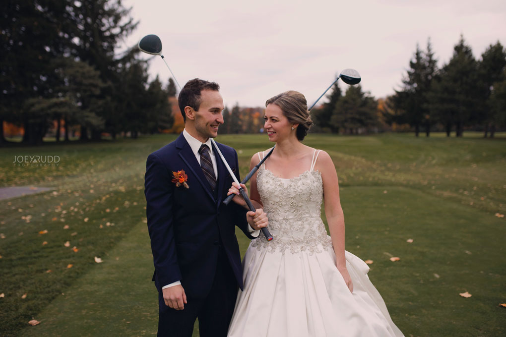 Fall Wedding at the Royal Ottawa Golf Course by Joey Rudd Photography  Cute Pose