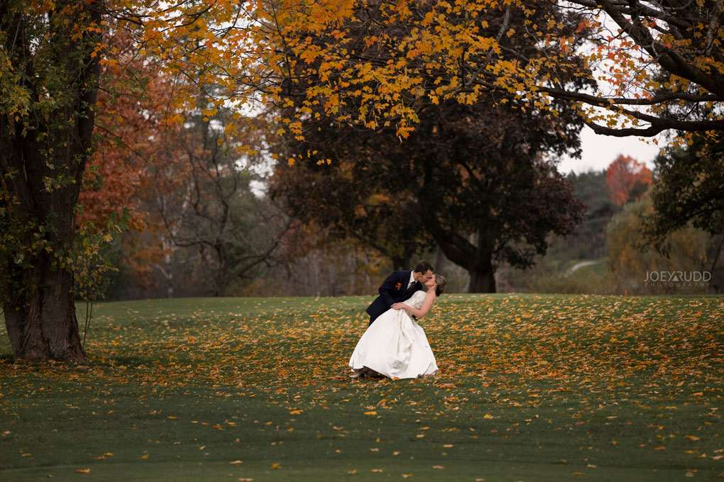 Fall Wedding at the Royal Ottawa Golf Course by Joey Rudd Photography  Leaves Colours
