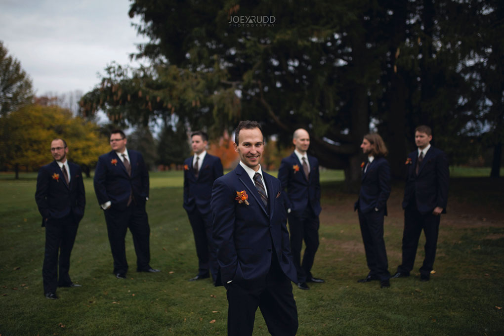 Fall Wedding at the Royal Ottawa Golf Course by Joey Rudd Photography  Wedding Party