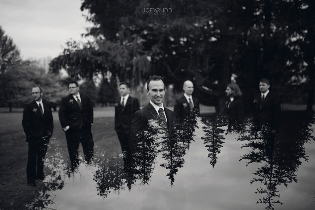 Fall Wedding at the Royal Ottawa Golf Course by Joey Rudd Photography  Double Exposure Wedding Party