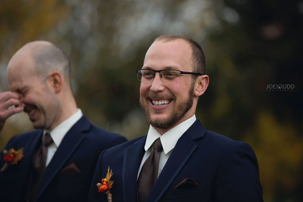 Fall Wedding at the Royal Ottawa Golf Course by Joey Rudd Photography  Groomsmen Candid