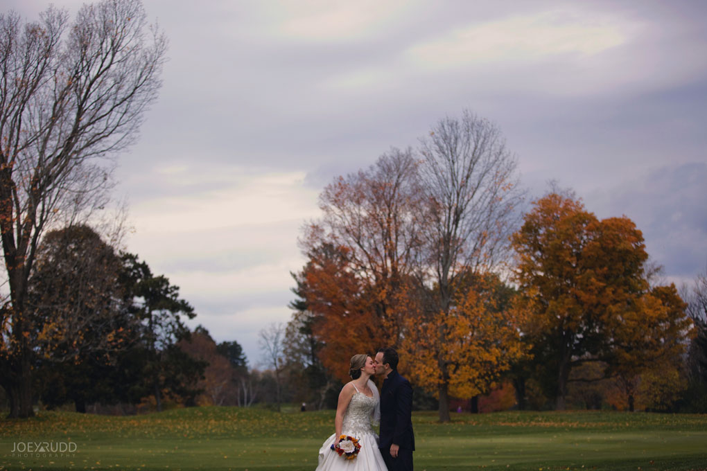 Fall Wedding at the Royal Ottawa Golf Course by Joey Rudd Photography  Natural Posing Candid Moments