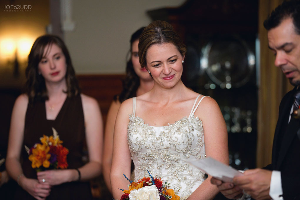 Fall Wedding at the Royal Ottawa Golf Course by Joey Rudd Photography  Ceremony Bride