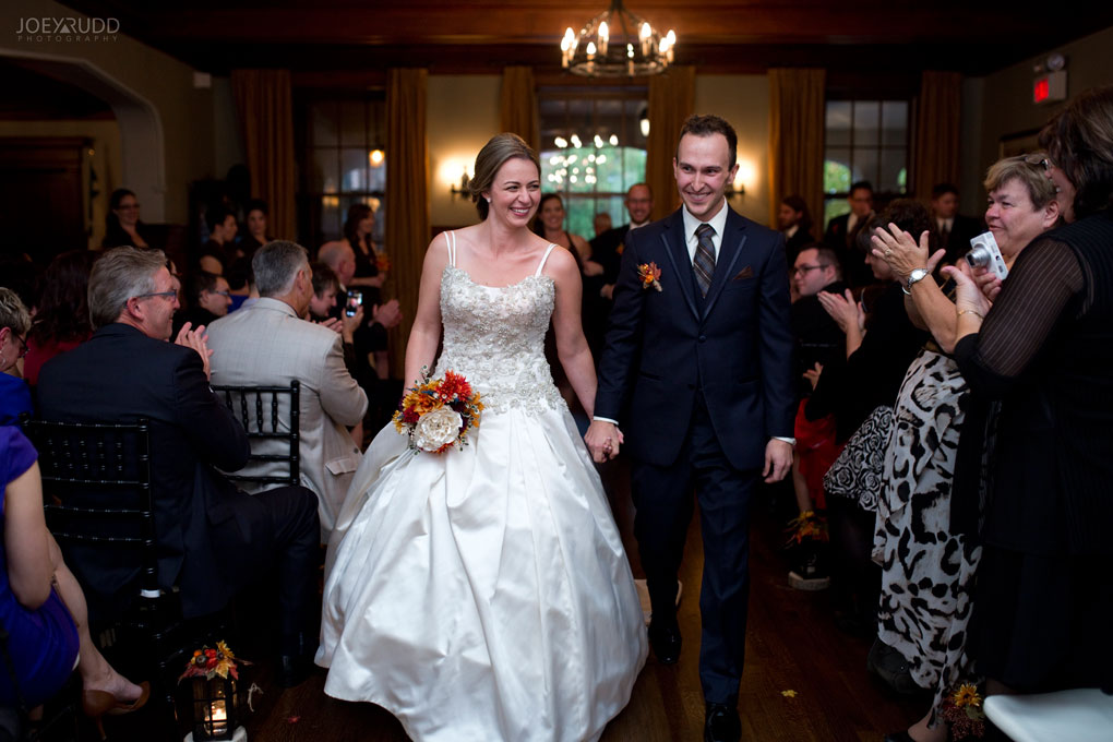 Fall Wedding at the Royal Ottawa Golf Course by Joey Rudd Photography  Ceremony Recessional