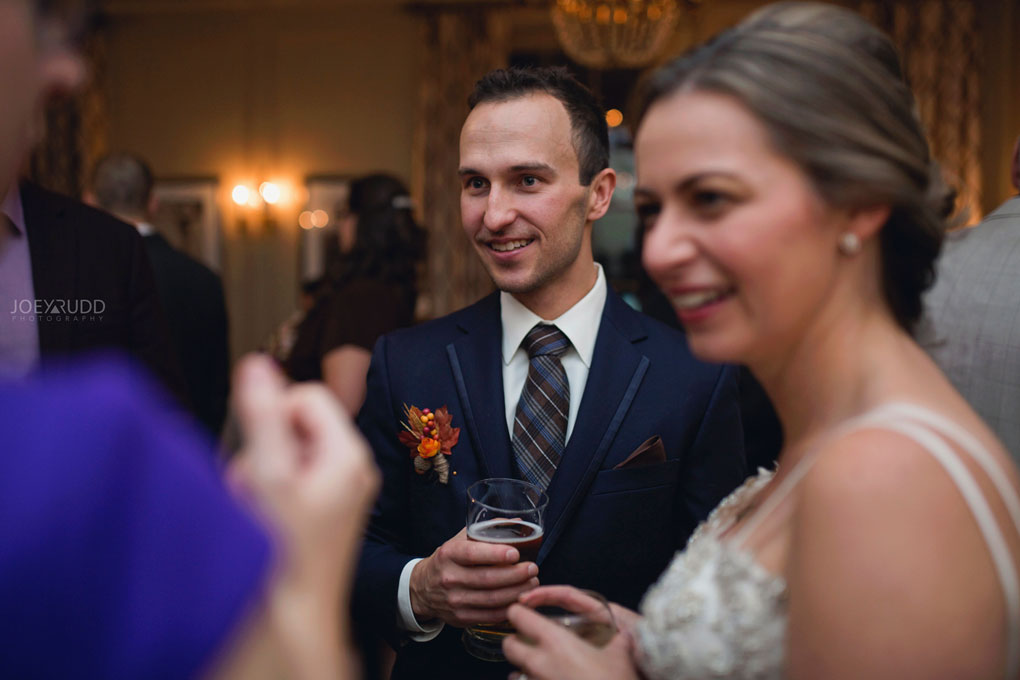 Fall Wedding at the Royal Ottawa Golf Course by Joey Rudd Photography Reception Candid Groom