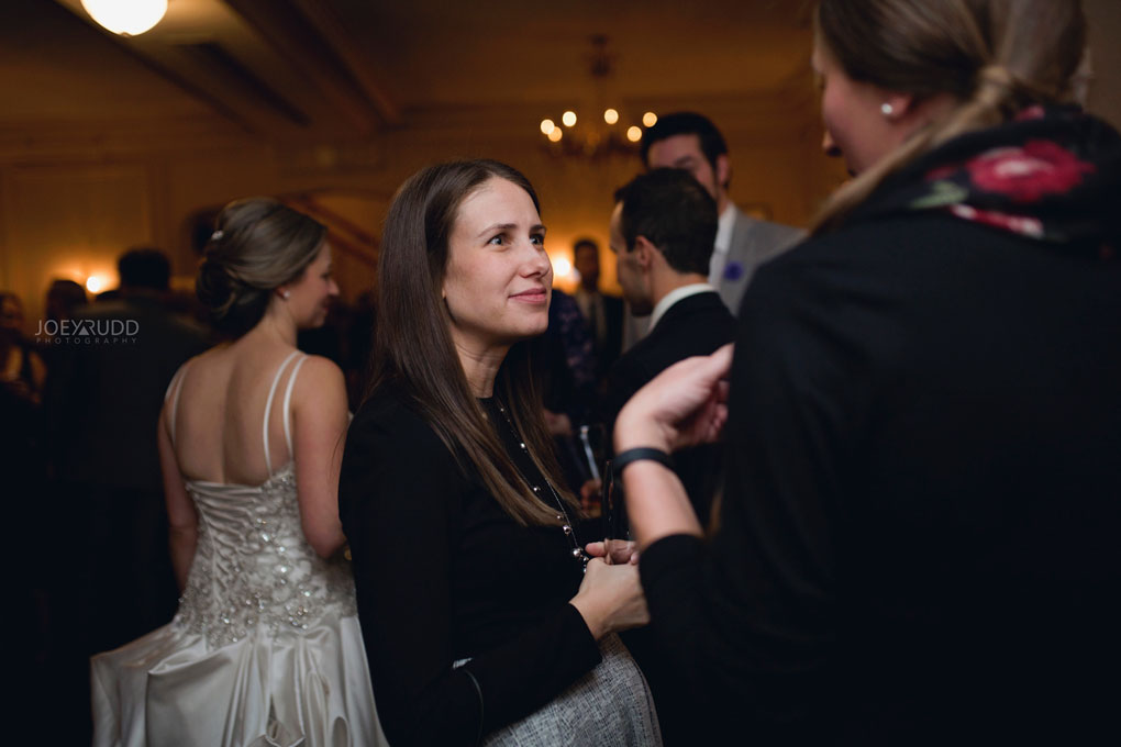 Fall Wedding at the Royal Ottawa Golf Course by Joey Rudd Photography Reception Candid Moment
