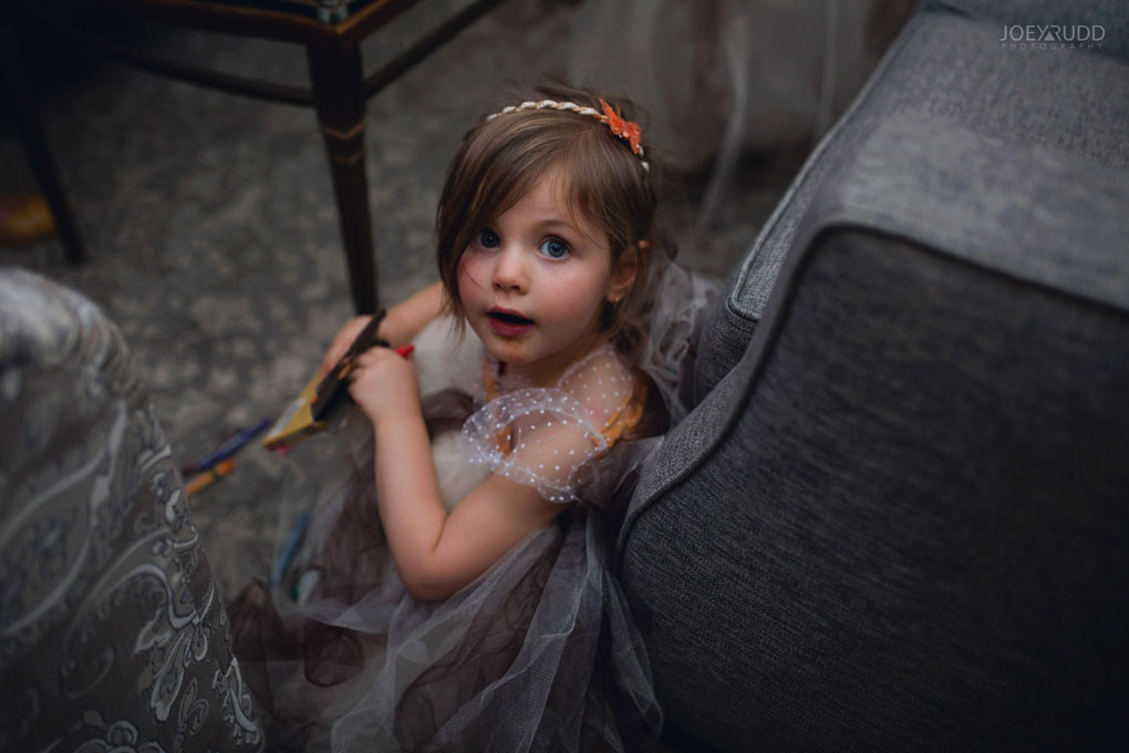 Fall Wedding at the Royal Ottawa Golf Course by Joey Rudd Photography Reception Candid Flower Girl