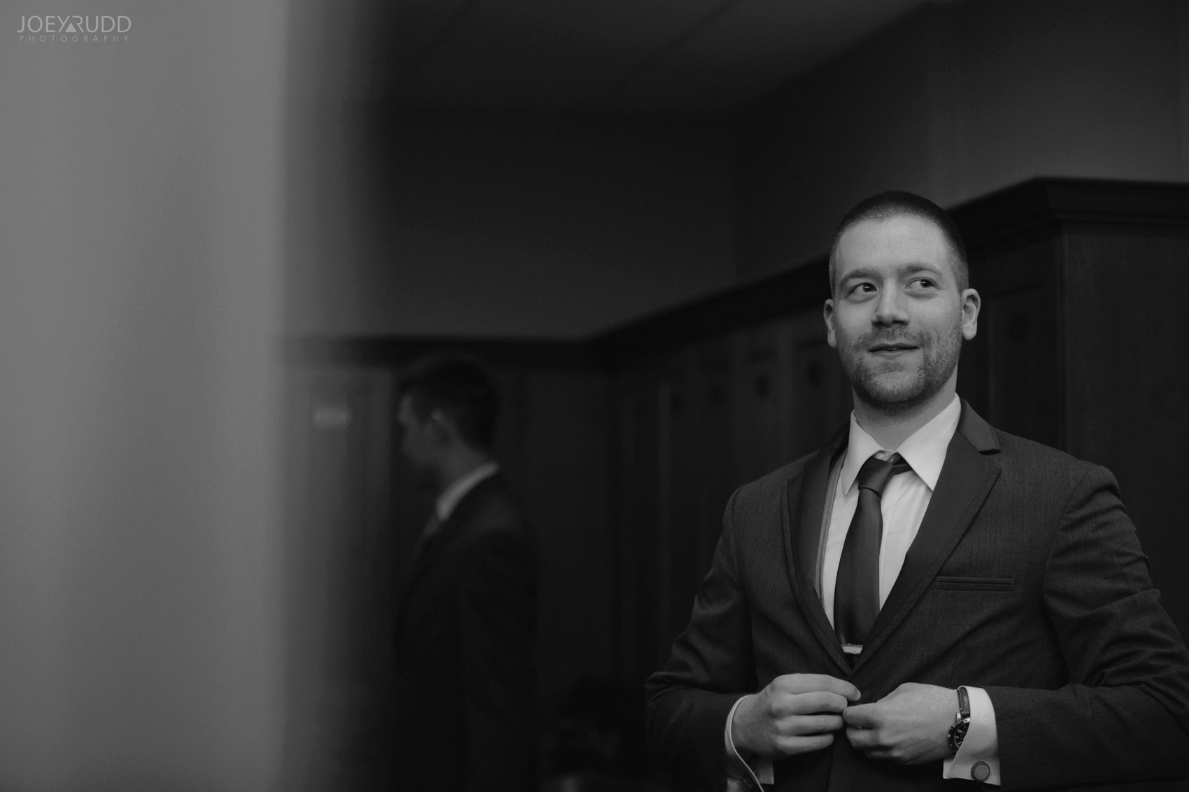 Winter Wedding in Ottawa at Greyhawk Golf Club by Ottawa Wedding Photographer Joey Rudd Photography Groom