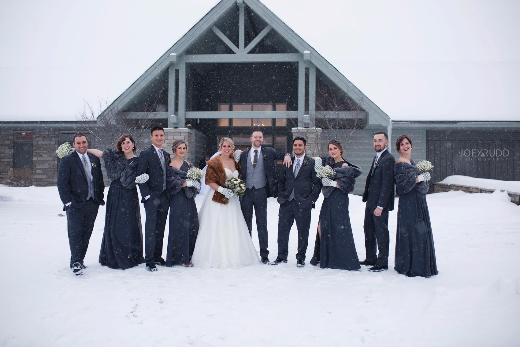 Winter Wedding in Ottawa at Greyhawk Golf Club by Ottawa Wedding Photographer Joey Rudd Photography Wedding Party