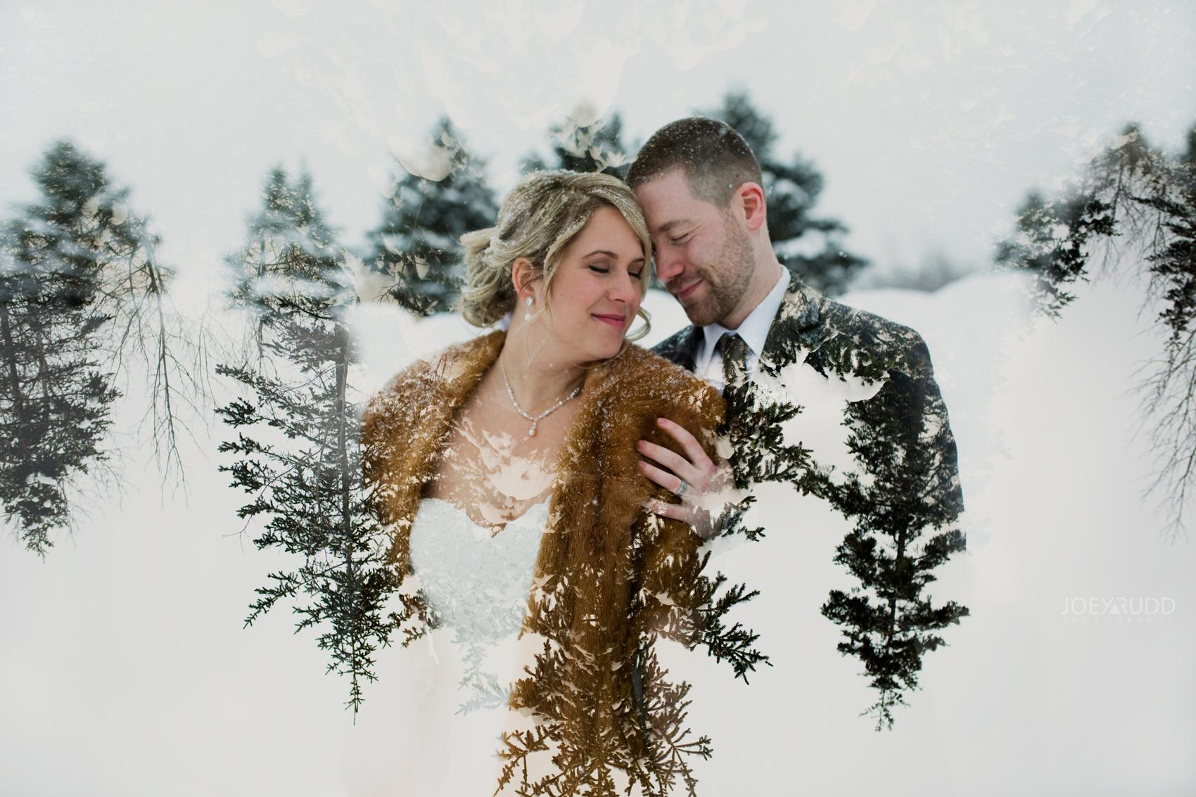 Winter Wedding in Ottawa at Greyhawk Golf Club by Ottawa Wedding Photographer Joey Rudd Photography Double Exposure