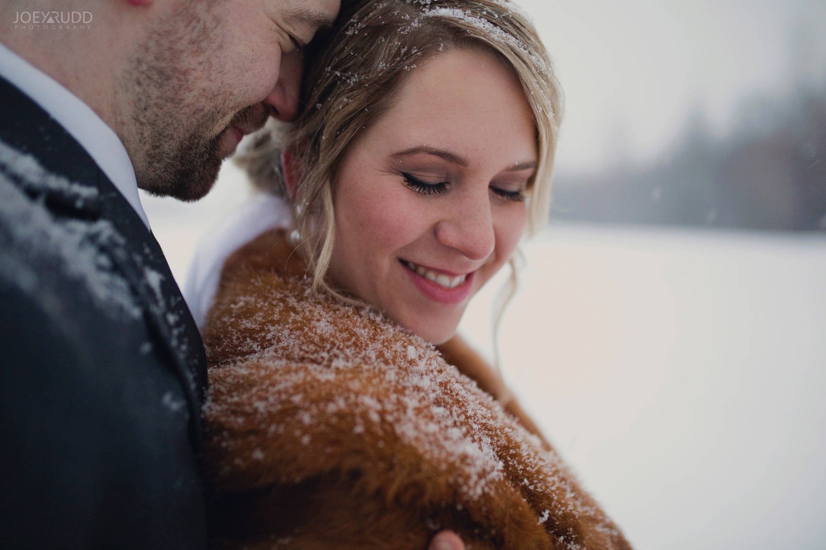 Winter Wedding in Ottawa at Greyhawk Golf Club by Ottawa Wedding Photographer Joey Rudd Photography Candid Couple