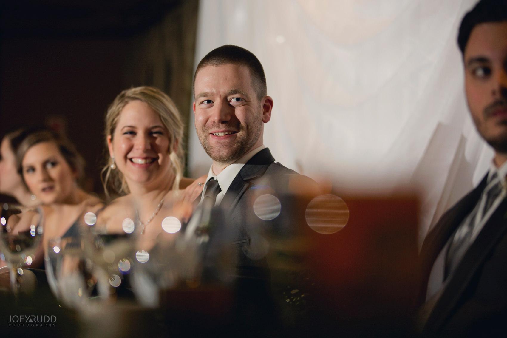 Winter Wedding in Ottawa at Greyhawk Golf Club by Ottawa Wedding Photographer Joey Rudd Photography Candid Reception Groom