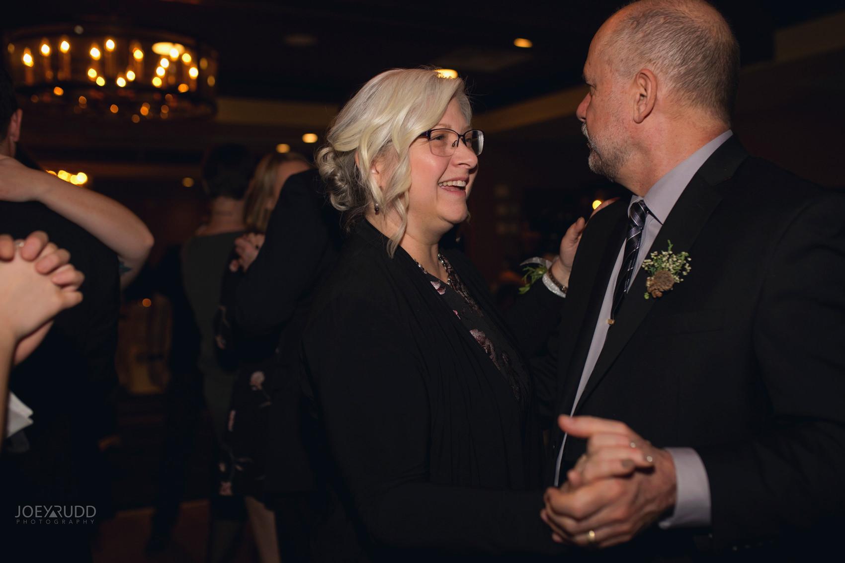 Winter Wedding in Ottawa at Greyhawk Golf Club by Ottawa Wedding Photographer Joey Rudd Photography Candid Reception Dancing Photo