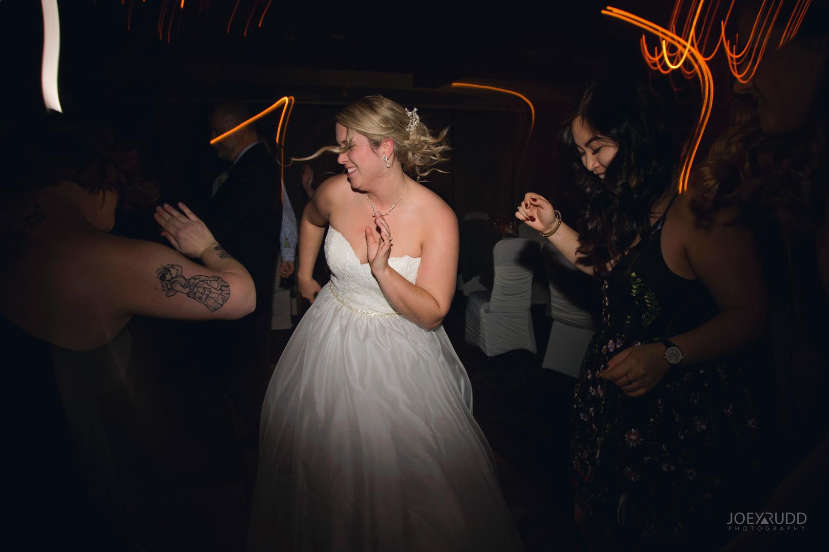Winter Wedding in Ottawa at Greyhawk Golf Club by Ottawa Wedding Photographer Joey Rudd Photography Candid Reception Bride Dancing