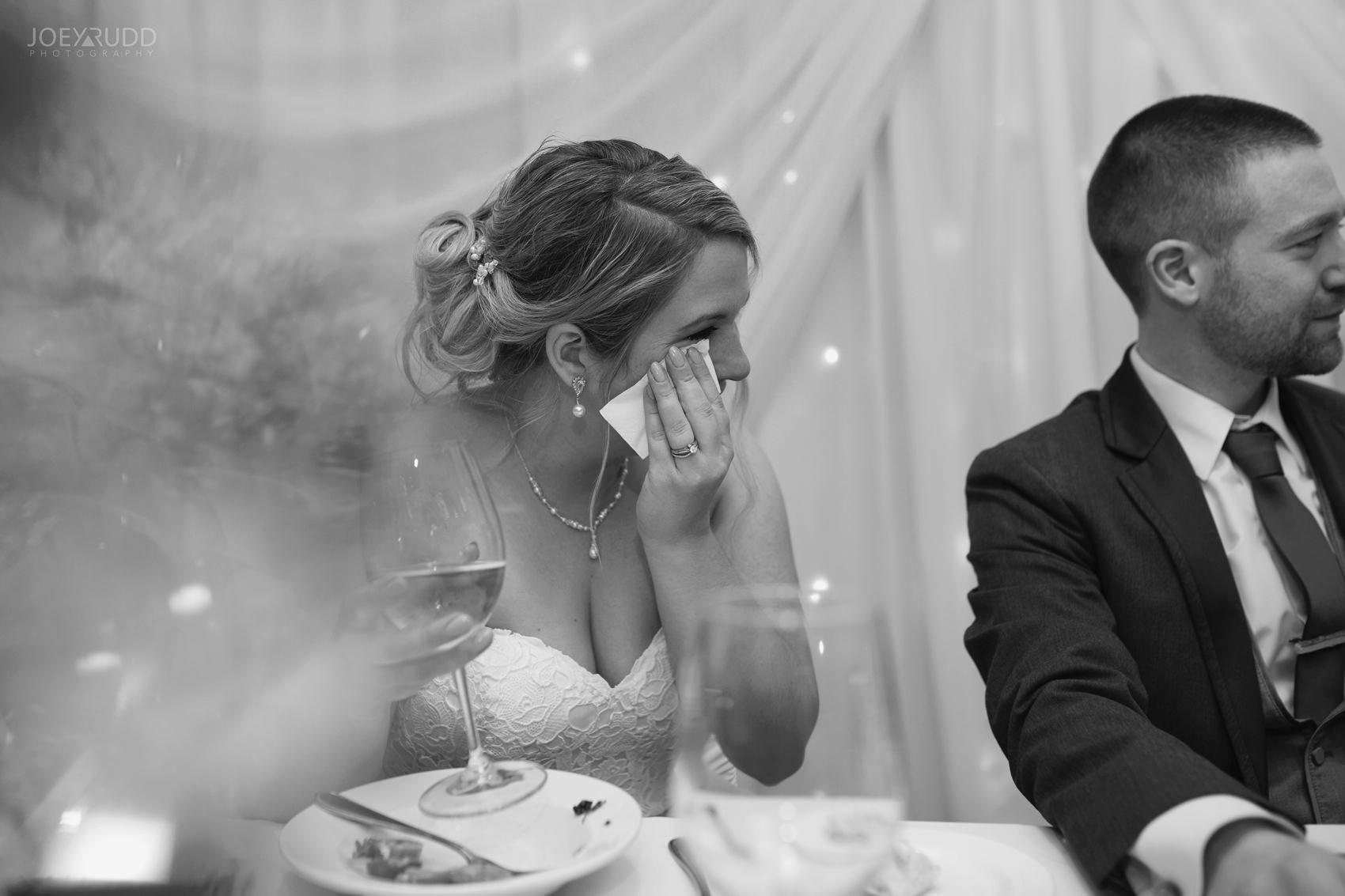 Winter Wedding in Ottawa at Greyhawk Golf Club by Ottawa Wedding Photographer Joey Rudd Photography Candid Reception Bride Emotion