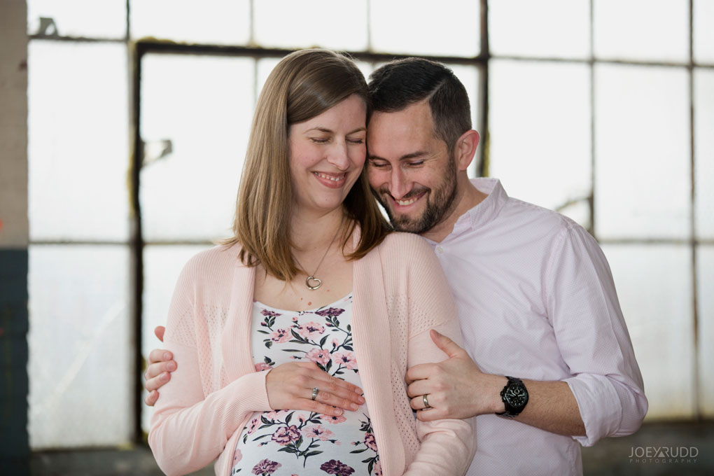 Family photos by Ottawa Photographer Joey Rudd Photography Maternity Mill Industrial Happy
