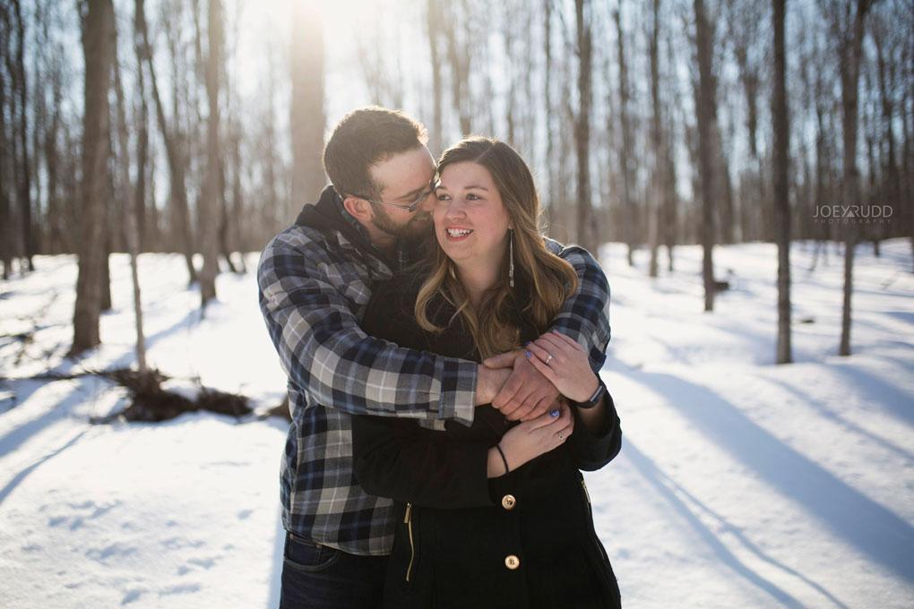Kemptville Engagement Photos by Ottawa Wedding Photographer Joey Rudd Photography Snow