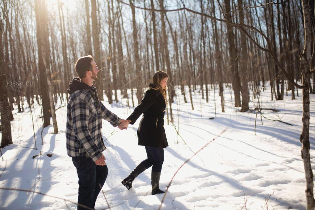 Kemptville Engagement Photos by Ottawa Wedding Photographer Joey Rudd Photography Hiking
