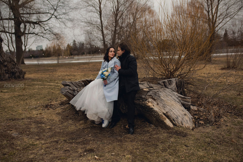 Elopement Wedding by Ottawa Wedding Photographer Joey Rudd Photography, Elopement, Elope, Wedding, Moody, Nature