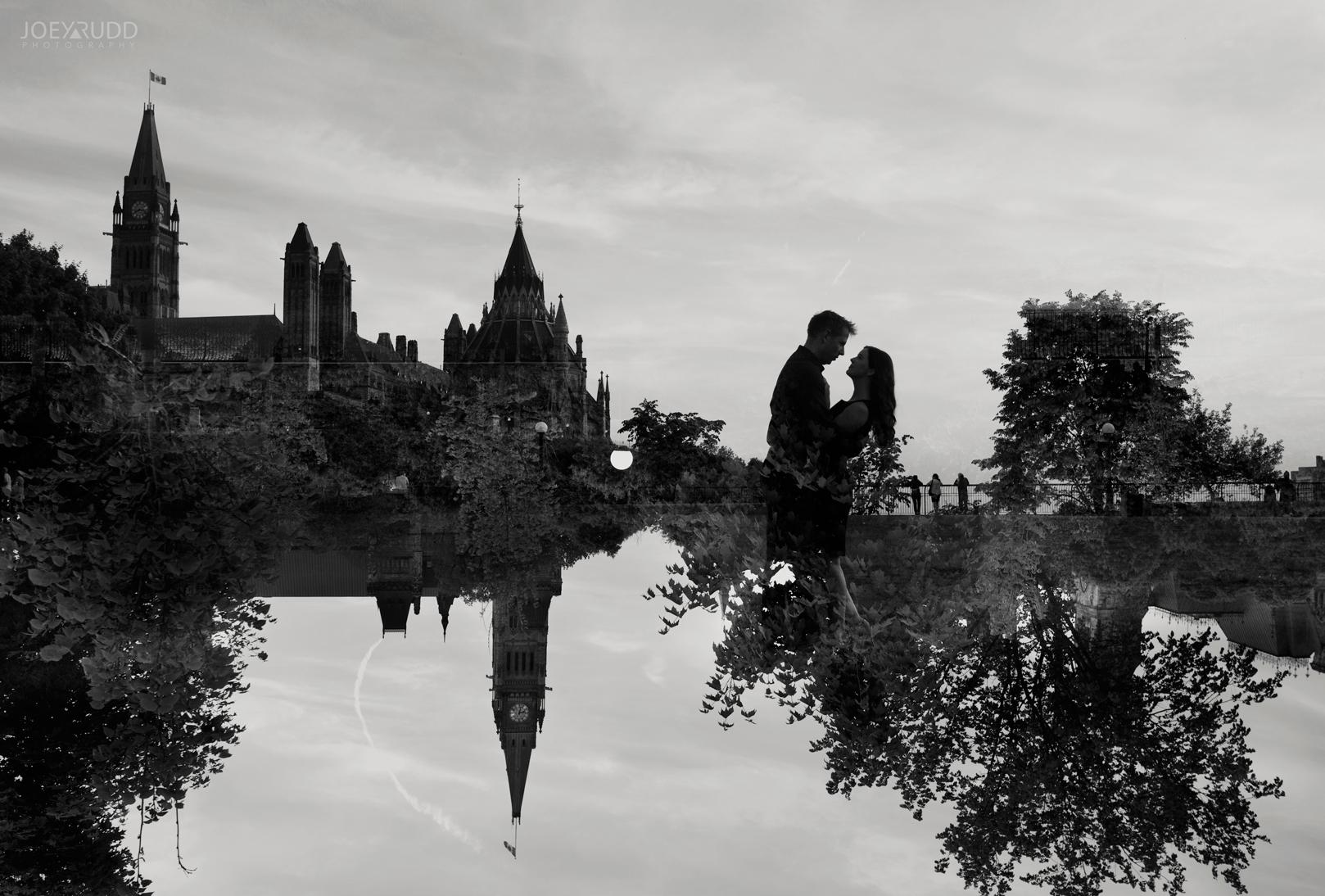 Engagement Photos, Ottawa Photographer, Ottawa Wedding, Ottawa Wedding photographer, downtown ottawa, chateau laurier, light leaks, fun, happy, enaged, photographer, joey rudd photography, lightsabers, star wars, unique, water, double exposure