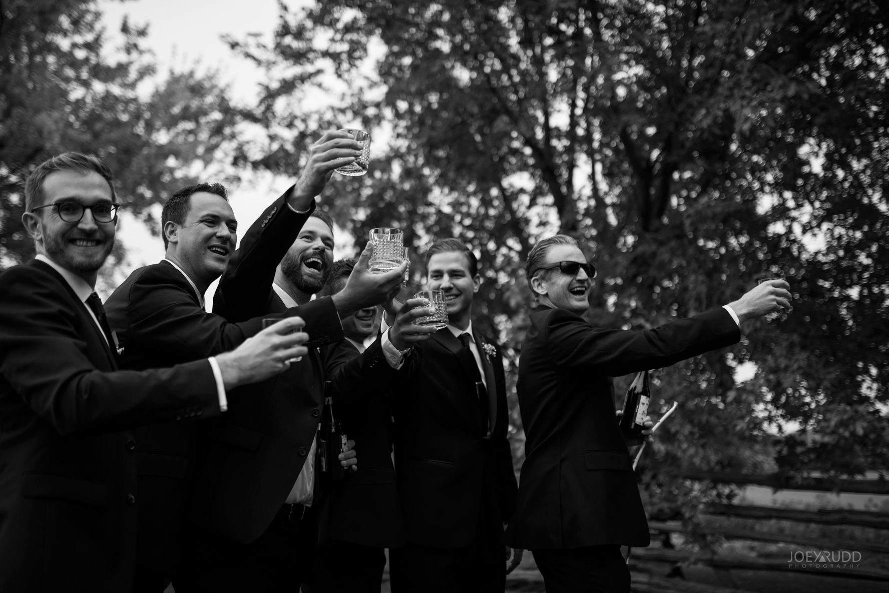 Evermore Wedding, Evermore Wedding and Events, Ottawa Wedding, Almonte Wedding, Ottawa Photographer, Wedding Photography, Wedding Photographer, Joey Rudd Photography, Farm Wedding, Rustic Wedding, Barn Wedding Venue, Wedding Venue, Ottawa Wedding Venue, Almonte Riverside Inn, Candid, groomsmen and drinks