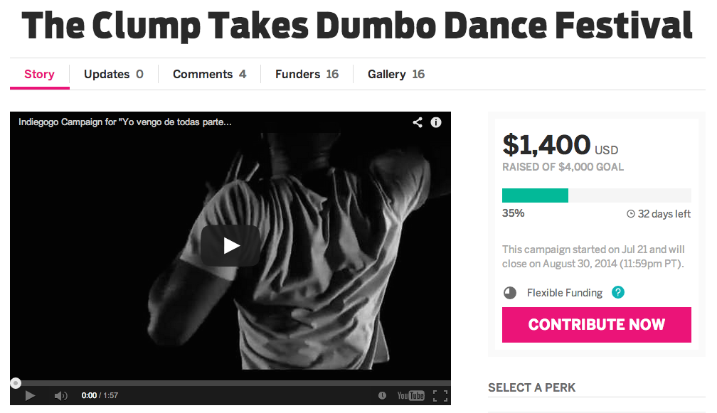 Please help the entire cast get to the 2014 DUMBO Dance Festival in NYC. All donations will go towards the dancers' travel expenses. All donations can be made   here   .
