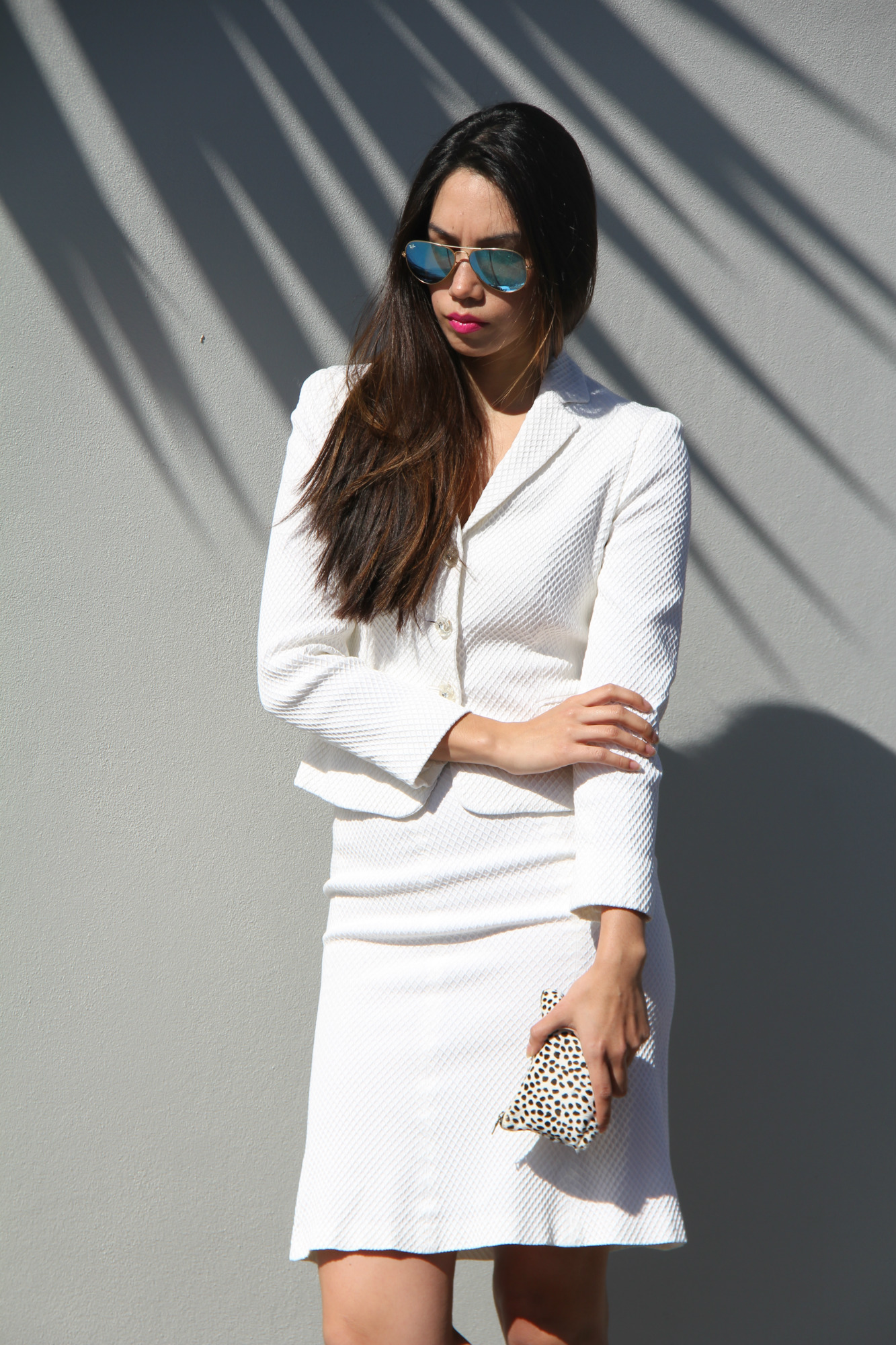 Outfit: Vintage Moschino Suit from Salvos, Sunglasses: Rayban @westfiledau #rssau