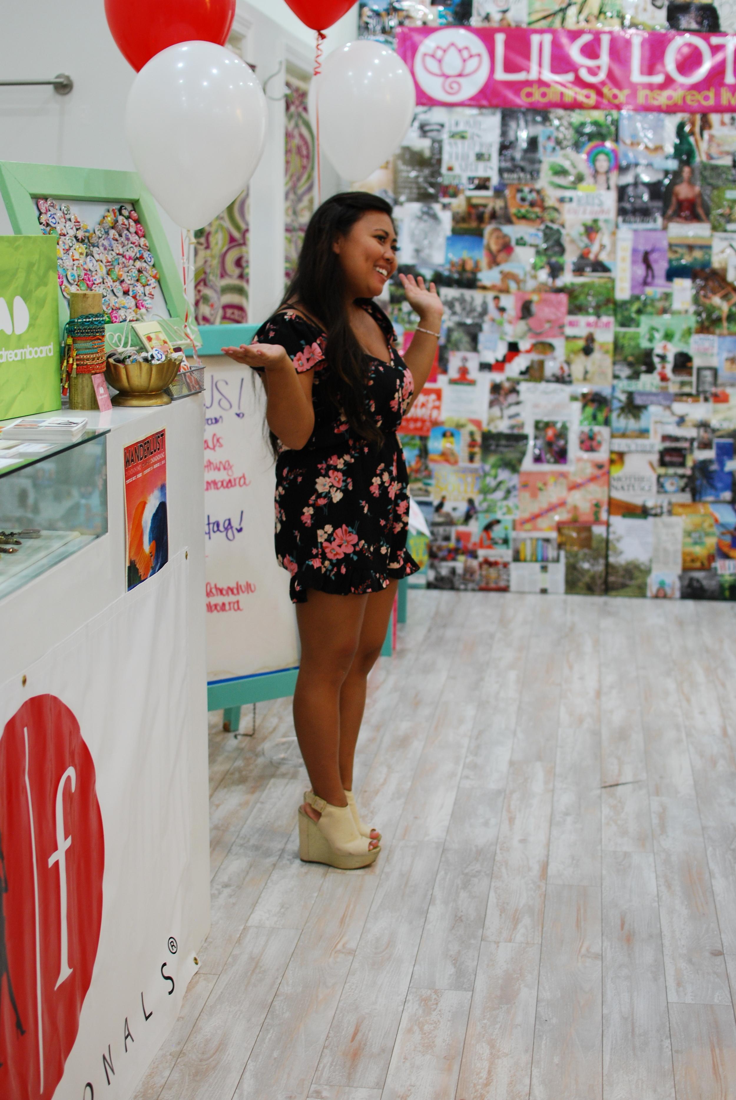 Owner and designer of Designs byLil Coconuts Hawai'i, Amanda Dela Cruz sharing her Fem-Pitch-Photo Courtesy Nicole Kato