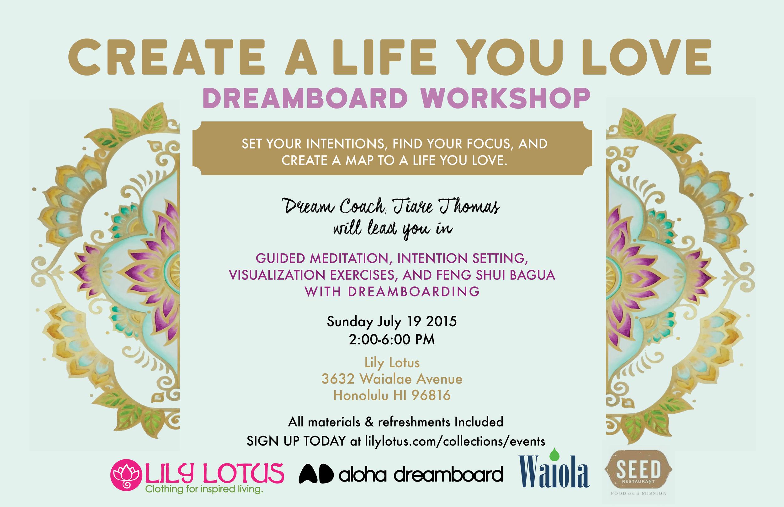 Create_A_Life_You_Love_Dreamboard_Workshop_Aloha_Dreamboard_Lily_Lotus_July_19th_2015