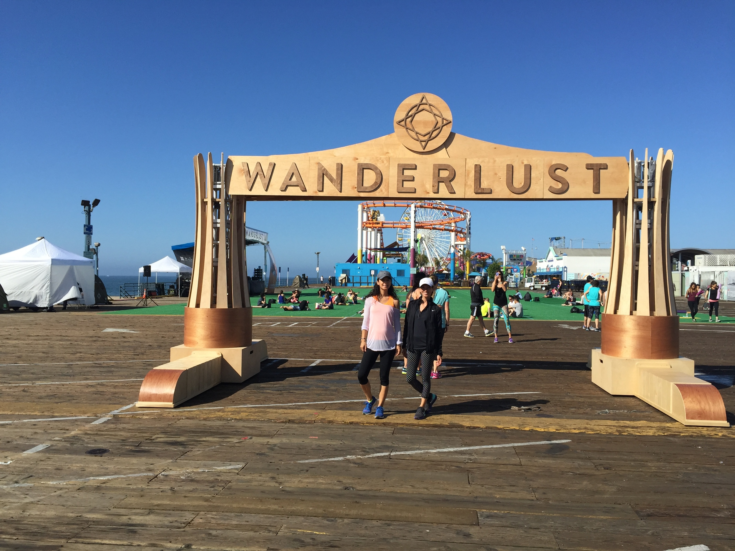 Angela Aguirre and Tiare Thomas at Wanderlust 108 in Santa Monica 2014