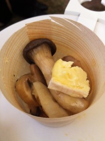 Mushrooms with a dollop of truffle brie