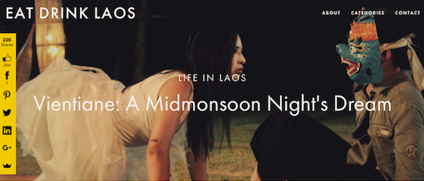This post from my blog  Eat Drink Laos  has been shared over 200 times, as you can see from the Sumo Me bar on the left