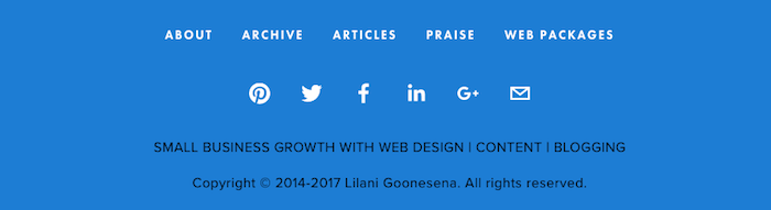 How To Rebrand Your Website From Portfolio To Business | Lilani Goonesena https://www.lilanigoonesena.com/blog/website-rebrand-portfolio-to-business In 2016, I changed my whole business focus and rebranded my website from portfolio to business. This is the exact process of how I did it! My new Squarespace business website uses a secondary menu navigation in the footer, a great space saver.