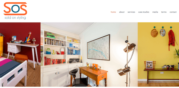 The image slider in  Sold On Styling's website  works really well for a properly stylist business