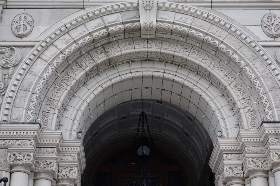 Close Up British Columbia Parliament Buildings