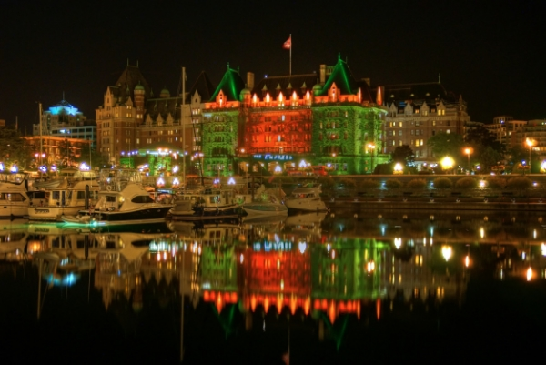 Empress Hotel at Night