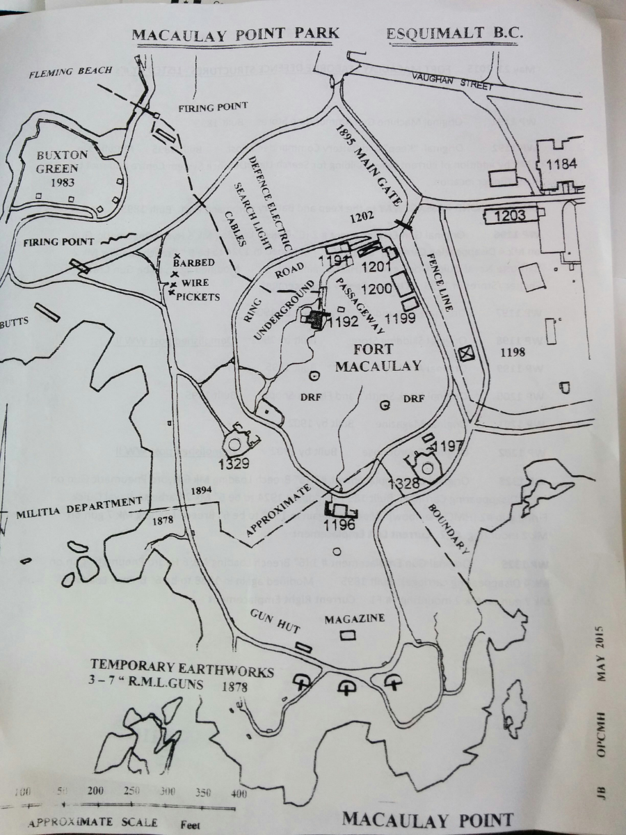 Map of Macaulay Point Park. Click for bigger image.