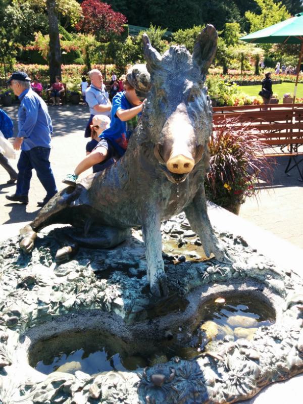 butchart-boar-statue