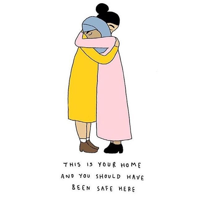 Absolutely heartbroken for my homeland Aotearoa. Sending love to Christchurch and all the families who have lost so much 💔 Illustration by @rubyalicerose