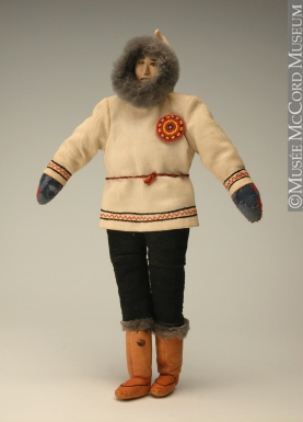 Doll, Inuit, 20th century. Gift of Dr. Walter Pfeiffer, M976.102.13, © McCord Museum.