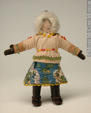 Doll, Inuit, 20th century. Gift of Dr. Walter Pfeiffer, M976.102.14, © McCord Museum.