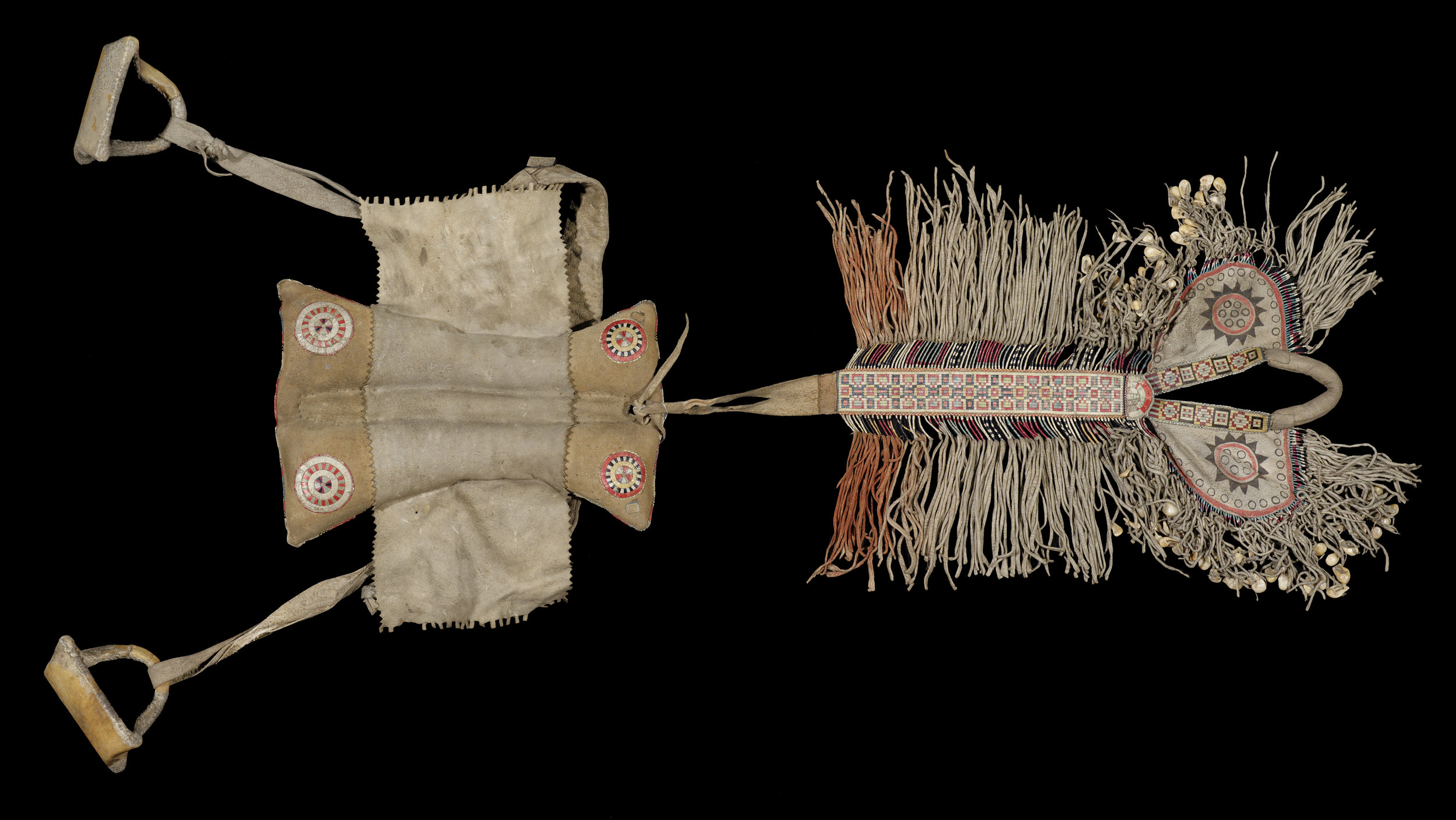Padded saddle, Plains, North America. Pitt Rivers Museum, cat. # 1884.51.14 . Image courtesy of the  Pitt Rivers Museum .