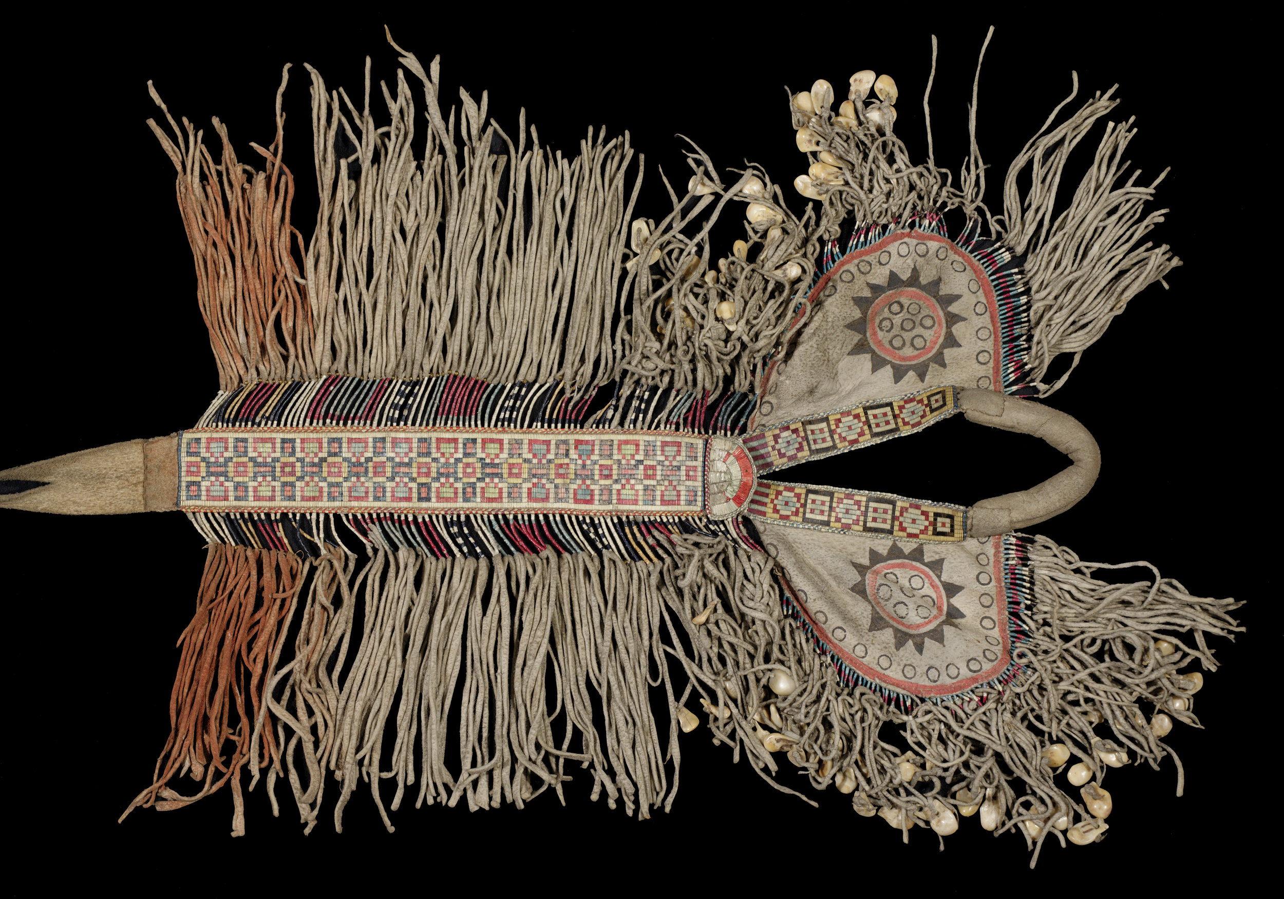 Padded saddle, Plains, North America. Pitt Rivers Museum, cat. #1884.51.14. Image courtesy of the Pitt Rivers Museum.