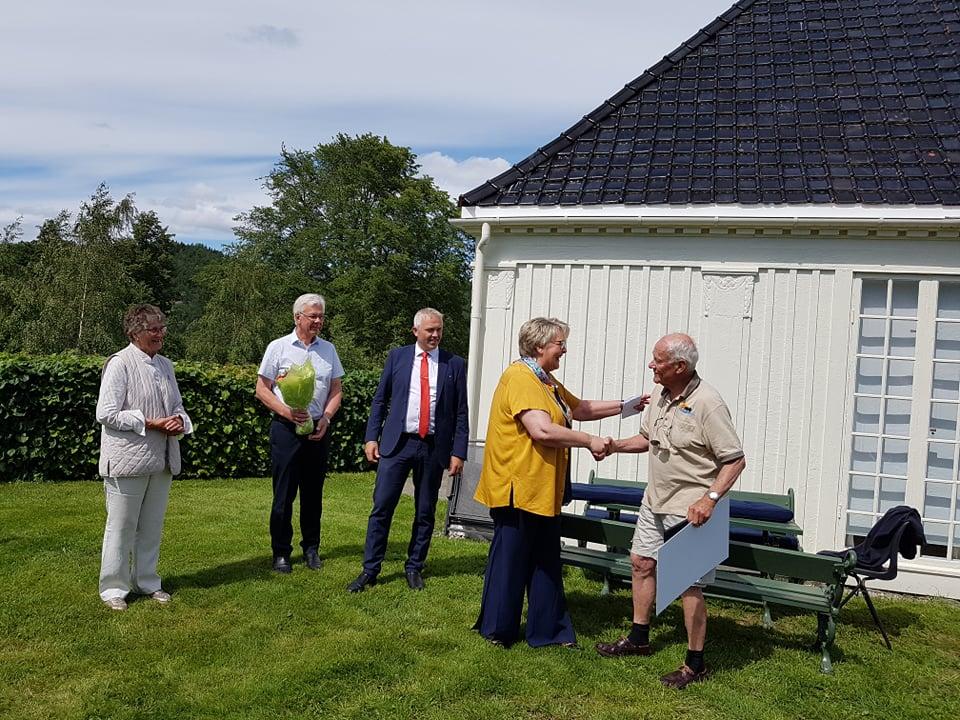 Fra utdelingen - Foto: Gjerstad kommune